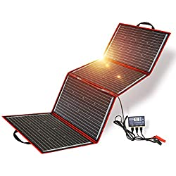 DOKIO 150W Kit Panneau solaire pliable portable monocristallin avec 2 ports USB Pour Plein air