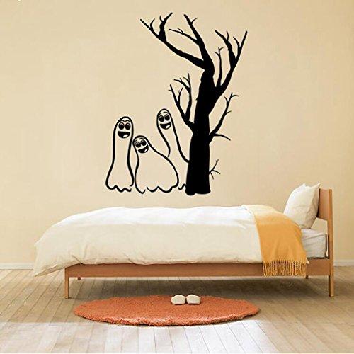 Madaye Halloween Wandaufkleber Kind Wohnzimmer Schlafzimmer Hintergrund Dekoration (Kostenlos Hintergründe Halloween)