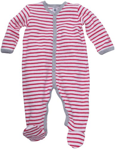 Petit Bateau Frottee Einteiler Pyjama Schlafanzug pink-weiß gestreift 68854 (3 Mon. - 60) (Pink Gestreiften Pyjama)