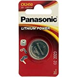 Knopfzelle CR2450 Panasonic Lithium Batterie rund