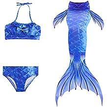3pcs Bikini Conjuntos Traje de Bano,Das beste Bikini con Cola de la Sirena para