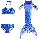 Das beste Niedlich Mädchen Meerjungfrauen Bikini Kostüm Meerjungfrau Schwimmanzug Badeanzüge Tankini Kostüm Cosplay