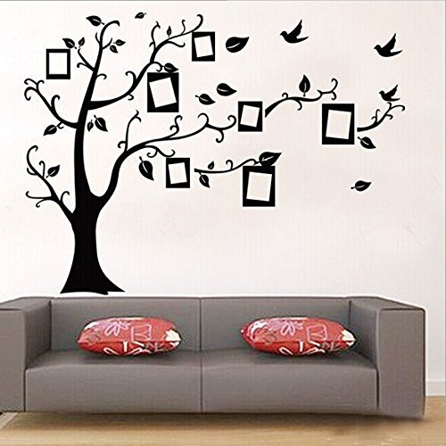 New 1set Large Size 90*120cm Black Color Family Tree Sticker Wall Decal U0026  Photo