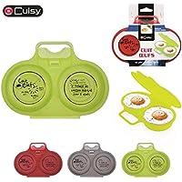 Cuisy KC2152 - Dispositivo para cocinar huevos en las microondas, colores surtidos