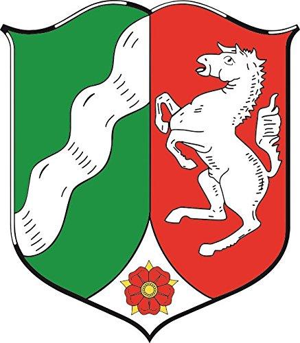 U24 Aufkleber Nordrhein-Westfalen Wappen NRW Autoaufkleber 20 x 22 cm Sticker Konturschnitt