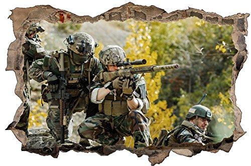 Militär Soldaten Einsatz Wandtattoo Wandsticker Wandaufkleber D1190 Größe 60 cm x 90 cm
