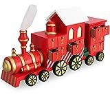 Deuba Adventskalender zum befüllen | Weihnachts Kalender Kinder 2018 | Eisenbahn DIY Selber Befüllen | Holz Türchen Deko
