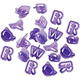Generic 40X Silicone Alphabet Letter Number Fondant Cake Biscuit Baking Mould Cookie Cutters, CH-249