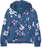 United Colors of Benetton Mädchen Jacke Jacket W/Hood L/S, Blue-All-Over, 104 (Herstellergröße: XX)