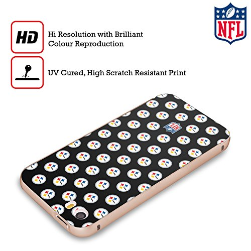Ufficiale NFL Marmo 2017/18 Pittsburgh Steelers Oro Cover Contorno con Bumper in Alluminio per Apple iPhone 5 / 5s / SE Pattern