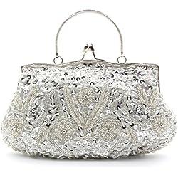 Bolso color plata con brillantes para Novia en redondo - varios modelos a elegir