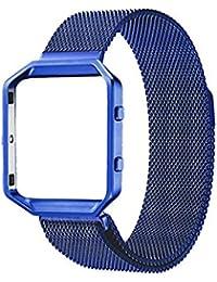 Mengonee Acero inoxidable pulsera de cadena de reemplazo Blacelet elegante magnética del reloj de la correa