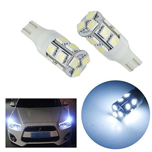 PA 2 x Auto Voiture lumière T15 T16 13 SMD 5050 LED Chips 921 194 Blanc 12 V extrêmement lumineux Blanc Couleur Side Marker Light/feu de position/Recul clair/conduite lampe/License Plate ampoules