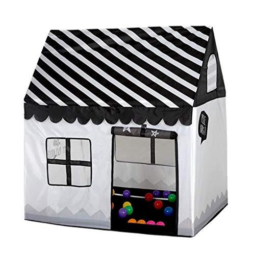 MLDOTente des enfants Kinderzelt Indoor , Einzigartige Schwarz-Weiß-Zelte im Small House Design von Playhouse Palace , Geeignet for Innen-, Außen- und Gartenbereiche (Schwarz/Weiß)