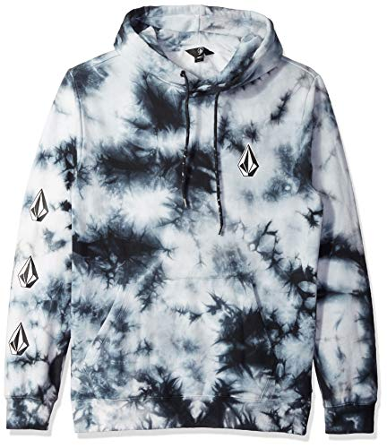 Volcom Men's Deadly Stones Pullover Hoodie Storm Black 2XL