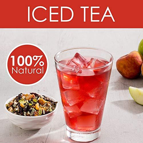 VAHDAM, Peach Green Apple Iced Tea | 40 Servings, 8 Quarts | 100% Natural Ingredients | Delicious Flavor of Oolong Tea & Tropical Fruits | Peach Iced Tea | Iced Tea Loose Leaf | 3.53oz (Set of 2)