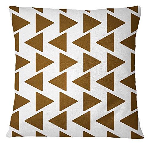 Ikat Kissen-abdeckung (S4Sassy Indian Home Decor Ikat Print Wurf Sofa-Kissen-Abdeckung Olivgrün-Kissenbezug-16 x 16 Inches)