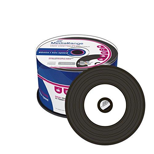 2X mr226Media Range (= 100pezzi) CD-R vergini (stampabile, 52X ad alta velocità, 700MB/80min., vinile 2X 50di ER Spindle)