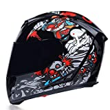Mr·J Scooter Chopper Motorradhelm Modular Downhill Mountain Helm Herren und Damen ECE...
