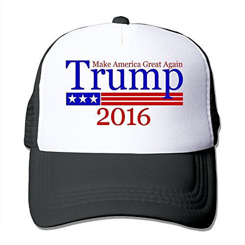 Hittings WuliNN Trump Sign Make America Great Again Mesh Trucker Hat Outdoor Adjustable Baseball Cap For Unisex Black