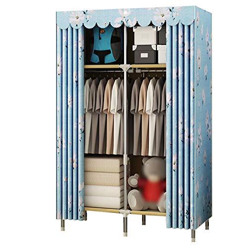 HMEIGUI Campingschrank Portable Der Schrank - Garderobenschrank aus Polyester-Baumwollgewebe,...