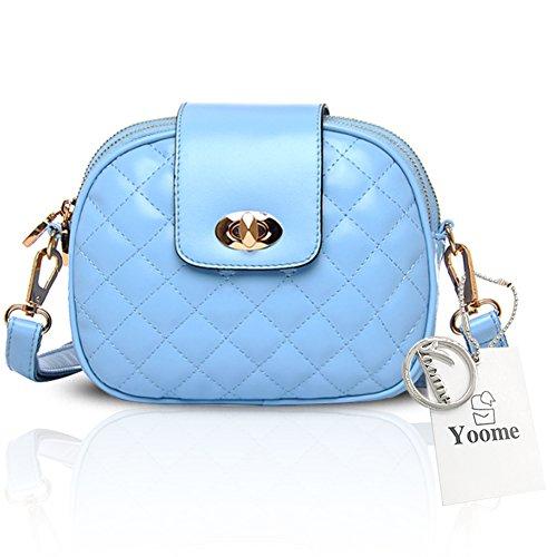 Yoome Stile Alle Stile Donna Retro Borsa Pieghevole Piccoli Borse Per Cerimonia Cerchio Crossbody Borsa Per Ragazze - Blu Blu