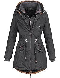 Ausnahme-Zustand Azuonda Damen Mantel Winterjacke Parka Winter Jacke warm Wintermantel Doublezipper gefüttert XS-XXL AZ34