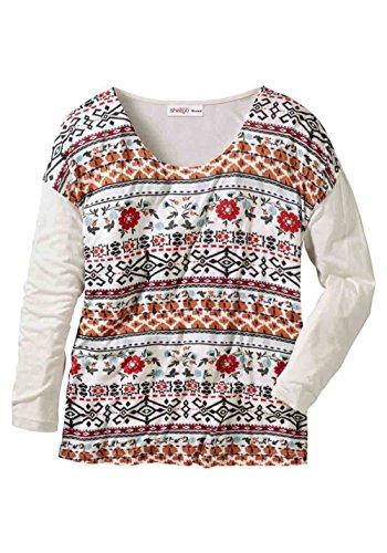 Shirt, creme-bunt von Sheego Grösse 52/54