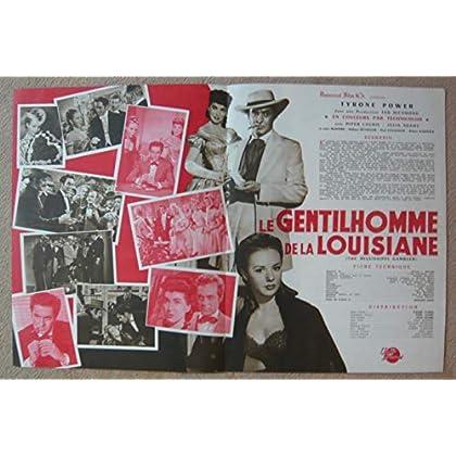 Dossier de presse de Le Gentilhomme de la Louisiane (The Mississippi Gambler) (1953) – 31x47 cm - Film de Rudolph Mate avec T Power, Laurie, JAdams – Photos N&B + scénario – Bon état.