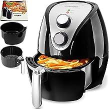 Friteuse électrique à air chaud 3,6 litres 1500W Noir avec livre de recettes cuisine