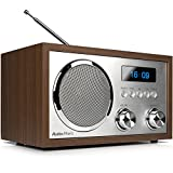 AudioAffairs DAB+Digitales Nostalgie-Radio, UKW-Retroradio mit Bluetooth, 2...
