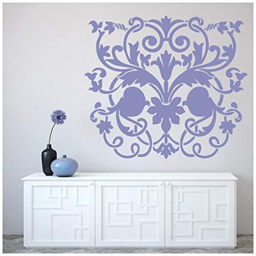 azutura Regal Blumen Wandtattoo Kopfteil Wand Sticker Hauptschlafzimmer Wohnkultur verfügbar in 5 Größen und 25 Farben Extraklein Elfenbein Beige -