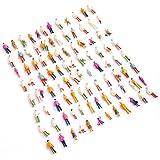 Munecas en miniatura - SODIAL(R) 100pcs HO Escala 1: 100 Mix Modelo Pintado Personas Tren Calle del Parque Pasajero Figuras