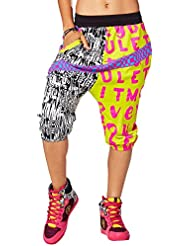 Zumba Fitness Let It Move You Harén Dance Pants Bottom, todo el año, mujer, color verde, tamaño extra-large