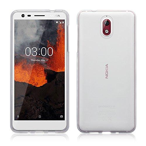 TERRAPIN, Kompatibel mit Nokia 3.1 Hülle, TPU Schutzhülle Tasche Case Cover - Transparent EINWEG