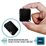 HY Mini Registratore Vocale, Registratore Vocale Portatile 16GB, Ricaricabile...