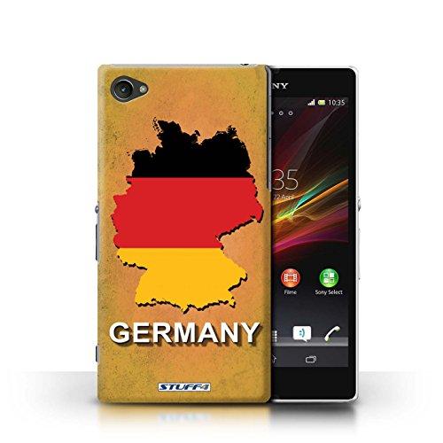 Kobalt® Imprimé Etui / Coque pour Sony Xperia Z1 Compact / Tchèque/Czechian conception / Série Drapeau Pays Allemagne/Allemand