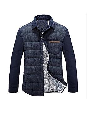 MHGAO Nuevo para la camisa de otoño / invierno de los hombres de Down Jacket , deep blue , xxl