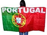 Un poncho qui représente le drapeau Un accessoire de déguisement original pour les supporters de matchs sportifs.D'une grande visibilité, il est idéal pour se faire remarquer depuis les tribunes.Drapé avec manches à enfiler.les couleu, choisir:UF-10 Portugal