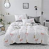 L?SH Bettbezug Vierteilig, Bettwäsche Aus 100% Baumwolle, Reaktivdruck, Atmungsaktiv, Weich Und Bequem, Bettbezug/Bettlaken/Kissenbezug * 2 (2,1,5 m Bett)