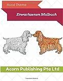 Hund Theme: Erwachsenen Malbuch