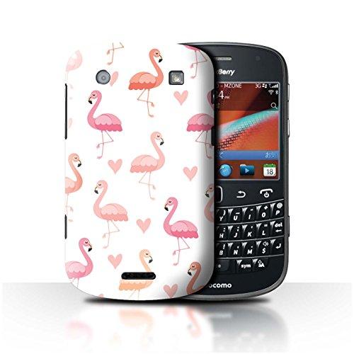 Stuff4® Hülle/Case für BlackBerry Bold 9900 / Rosa Herzmuster Muster/Netter Flamingo Karikatur Kollektion -