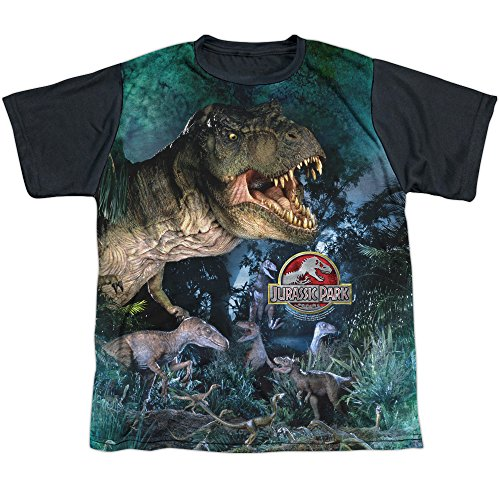 Boys Jurassic Park T-Rex Official T-shirt - Youth S to XL
