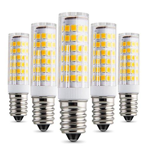 Preisvergleich Produktbild Albrillo 5W E14 LED Lampe 75 SMDs nicht dimmbar,  warmweiß,  450 Lumen,  5er Pack