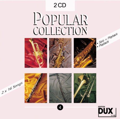 Popular Collection Band 4: 2 CDs mit Halb- und Vollplayback -- 16 weltbekannte populäre Melodien aus Pop und Filmmusik u.a. mit MY HEART WILL GO ON und THE PINK PANTHER (Der rosarote Panther) in klangvollen mittelschweren Arrangements (Pink Panther Band 2)