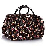 TrendStar Meine Damen Reisetaschen Holdall Frauen Handgepäcks Eule Print Wochenende Rolliges Laufwerk Handtasche