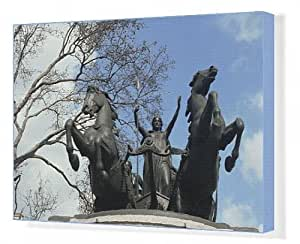 Toile de Boadicea, Statue de Westminster Londres, Angleterre, Royaume-Uni, Europe