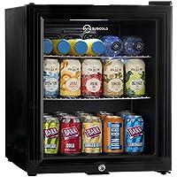 Subcold Super50 LED – Mini Fridge Black   50L Beer, Wine & Drinks Fridge   LED Light + Lock & Key   Low Energy A+ (Black)