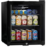 Subcold Super50 LED - Mini Fridge Black | 50L Beer, Wine & Drinks Fridge | LED Light + Lock & Key | Low Energy A+ (Black)