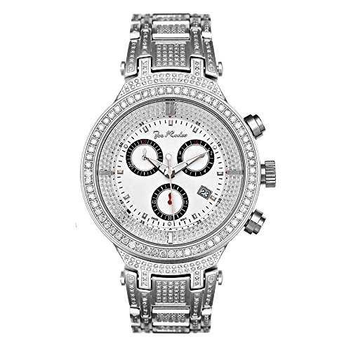Joe Rodeo Diamant Homme Montre - MASTER argent 5.2 ctw